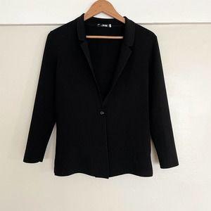 Womens MM LaFleur Stretch Cardigan Jacket Cardigan Open Front Button Black S
